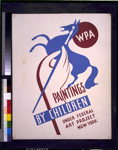 Wpa Paintings By Children Under Federal Art Project, New York Image