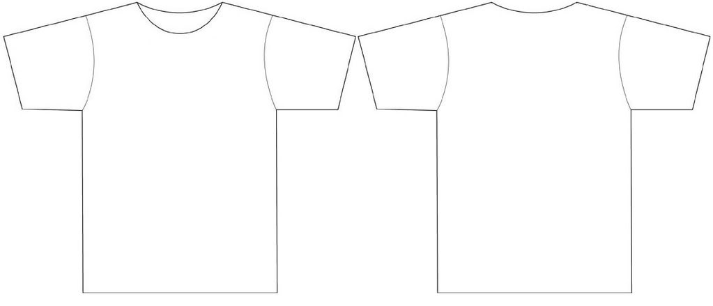 Tshirt template free images at vector clip for Blank t shirt design template