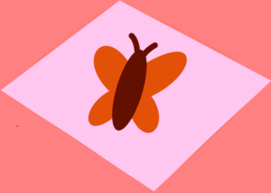 Orange Butterfly Pink And Pinkish Orange Background Magenta Image
