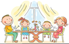 Free Clipart Dinning Out Image