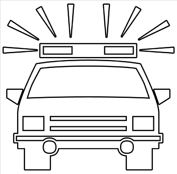 Police Car Outline Clip Art at Clker.com - vector clip art ...
