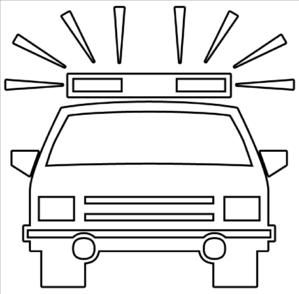 Police Car Outline Clip Art at Clker.com - vector clip art online ...