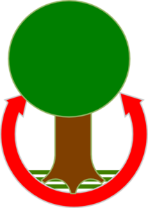 Green Tree With Brown Trunk Clip Art