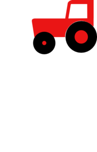 Tractor-red Clip Art