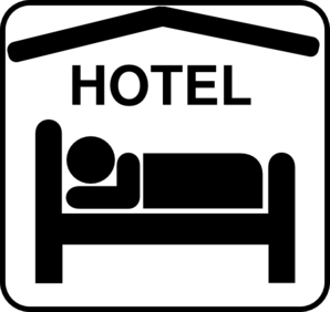 Hotel Sleeping Accomodation  Clip Art