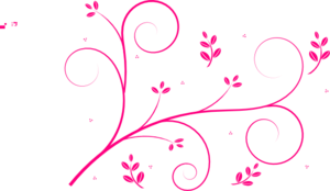 Hot Pink Swirls Clip Art