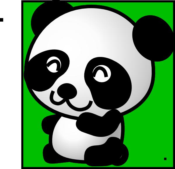 Panda Green Background Clip Art at Clker.com - vector clip ...  Panda Green Bac...