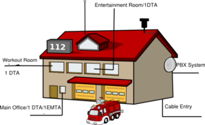 Fire House Blueprint Clip Art