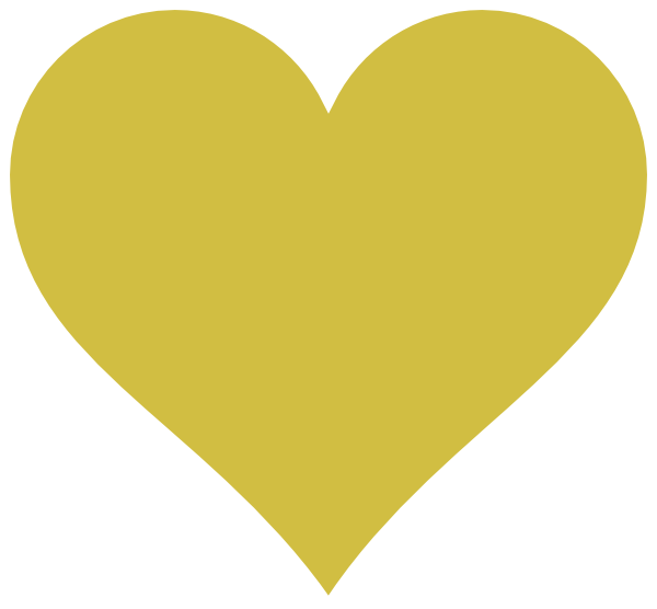 Gold Heart Yellow Clip Art at Clker.com - vector clip art ...