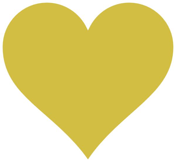 Gold Heart Yellow Clip Art at Clker.com - vector clip art online ...