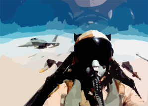 F/a-18 Cockpit During Combat Mission Clip Art