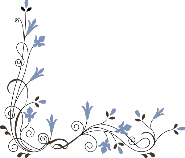 Flower Corner Clip Art at Clker.com - vector clip art online, royalty ...