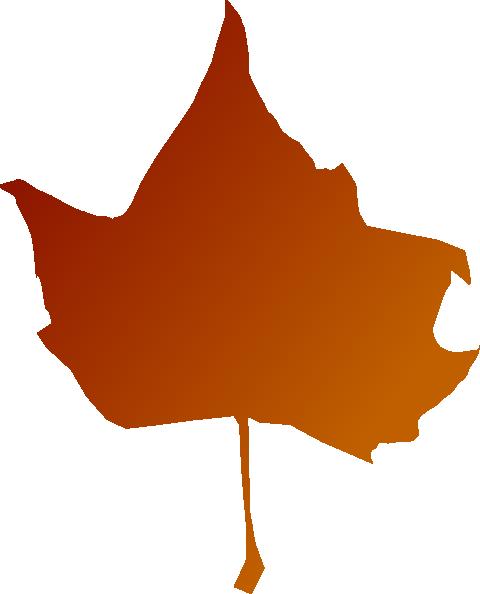 orange leaf clip art - photo #22