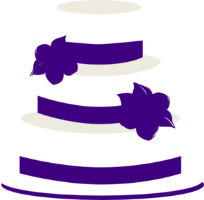 White And Purple Wedding Cake Clip Art