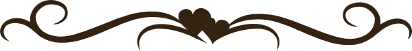 brown heart swirl clip art at clkercom vector clip art