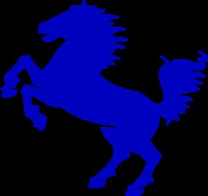 blue stallion clip art at clker com vector clip art online rh clker com stallion clipart png Wild Stallions