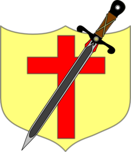 Sword And Shield - Colored Clip Art