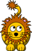 Lion Looking Right-up Clip Art