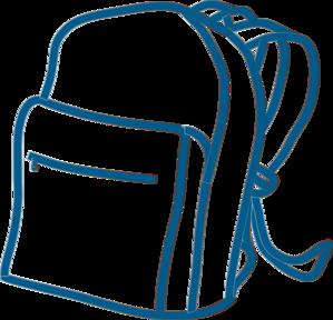 blue backpack clip art at clker com vector clip art online rh clker com backpack clip art pinterest backpack clip art black white