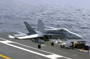 F/a-18 Is Waved Off Clip Art