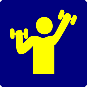 Exercise Using Weights Clip Art