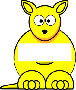 Yellow Sightword Kangaroo Clip Art