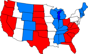Red White Blue Usa Map Clip Art At Clker  Vector Clip