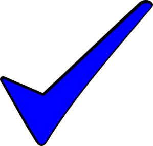 The Blue Tick Clip Art