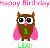 Owl Birthday Lexi  Clip Art