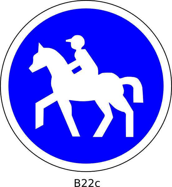 Horse Road Sign Horse Rider Road Sign Vector