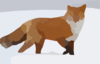 Red Fox In Snow Clip Art