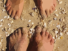 Feet On Beach Clip Art