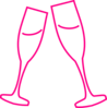 Champagne Glass Pink Clip Art