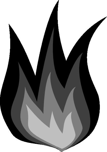 Grayscale Flames Clip Art at Clker.com - vector clip art ...