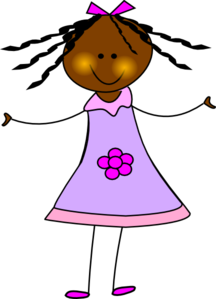 African American Doll Clip Art
