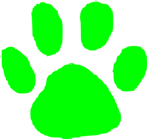 Green Foot Print Clip Art