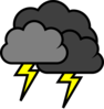 Lightening Clouds Clip Art