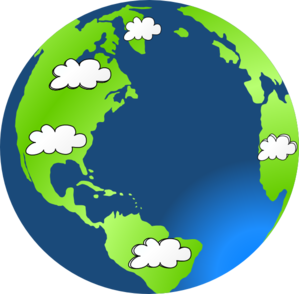 Planet Earth Cloud Clip Art at Clker.com - vector clip art online ...