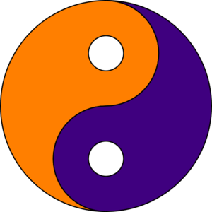 Purple Gold Ying Yang Clip Art