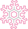 Pink And Gold Snowflake Clip Art