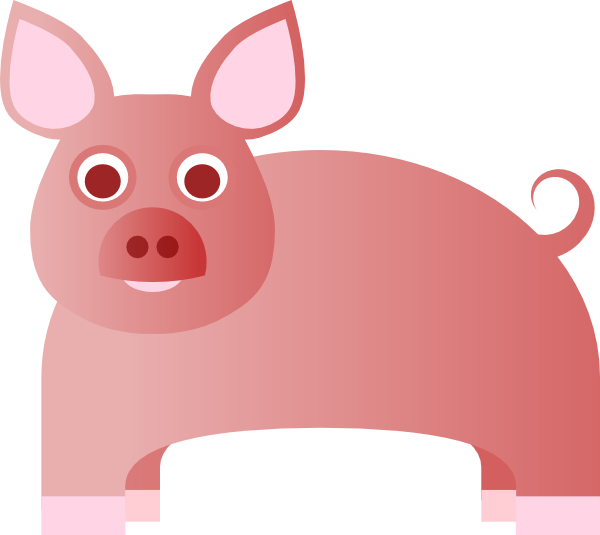 free clip art pink pig - photo #13