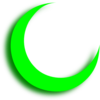 Green Crescent Clip Art