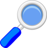 Blue Magnifying Glass Clip Art