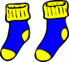 Blue And Yellow Socks Clip Art