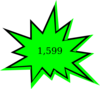 Free Starburst Green Clip Art