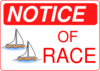 Notice Of Race Clip Art