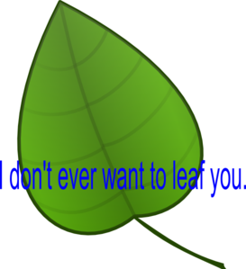 Leaf You Clip Art