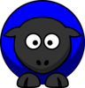 Blue Sheep No Flower Clip Art