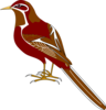 Bird Red Clip Art