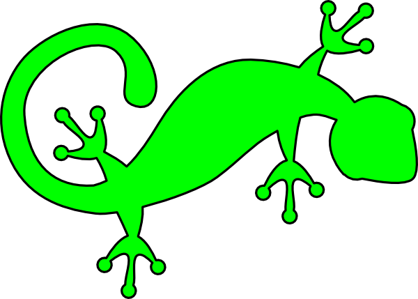 bright green gecko clip art at clker com vector clip art online rh clker com gecko clipart black and white gecko clipart images